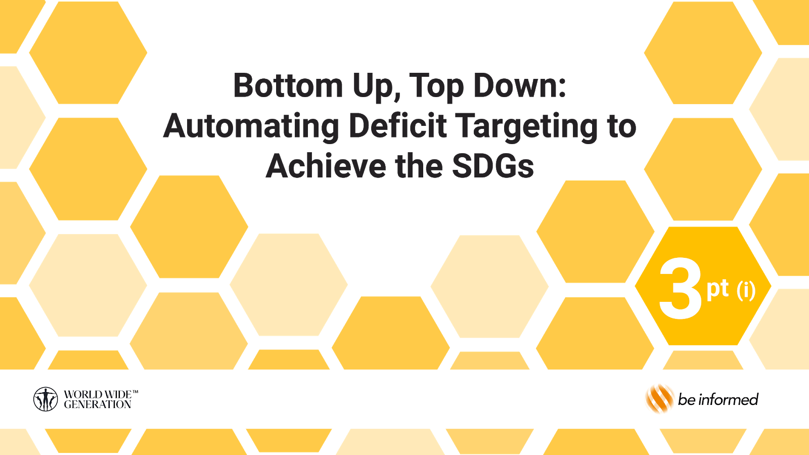 automating deficit targeting to achieve the SDGs